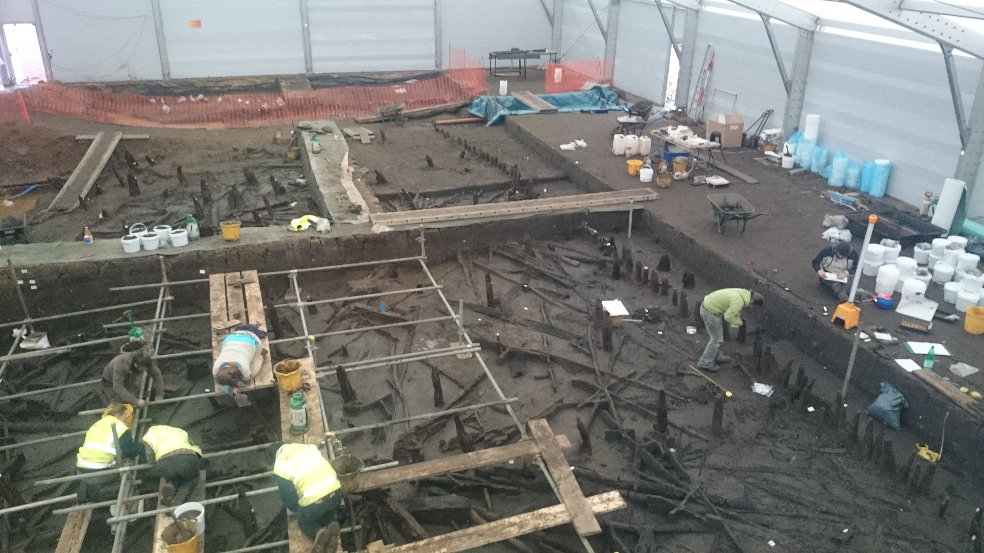 The Must Farm site being excavated