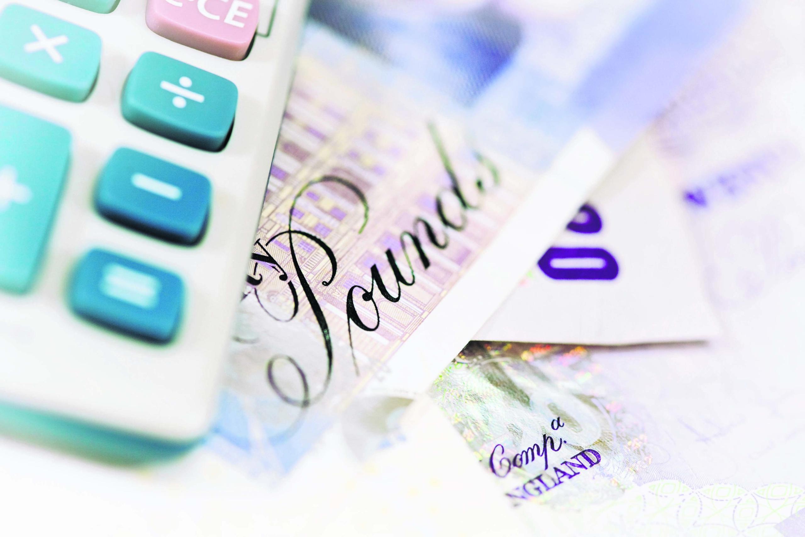 An image of twenty pound notes