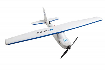 A drone or unmanned aerial vehicle used in flood risk management