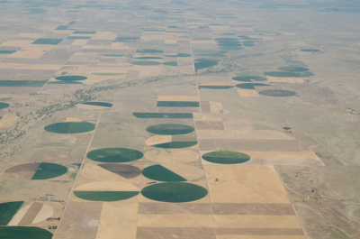 Impact of droughts on agriculture - farmland in the US.