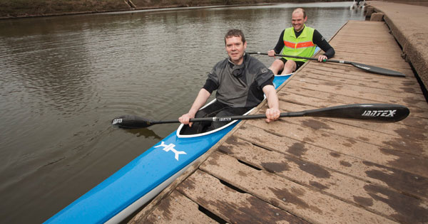 Kayak made of aerospace waste materials
