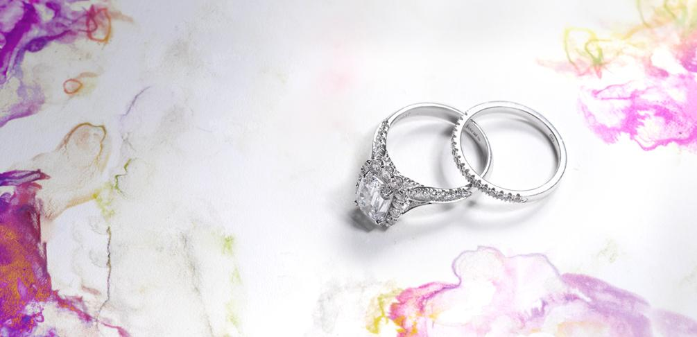 Photo of engagement rings