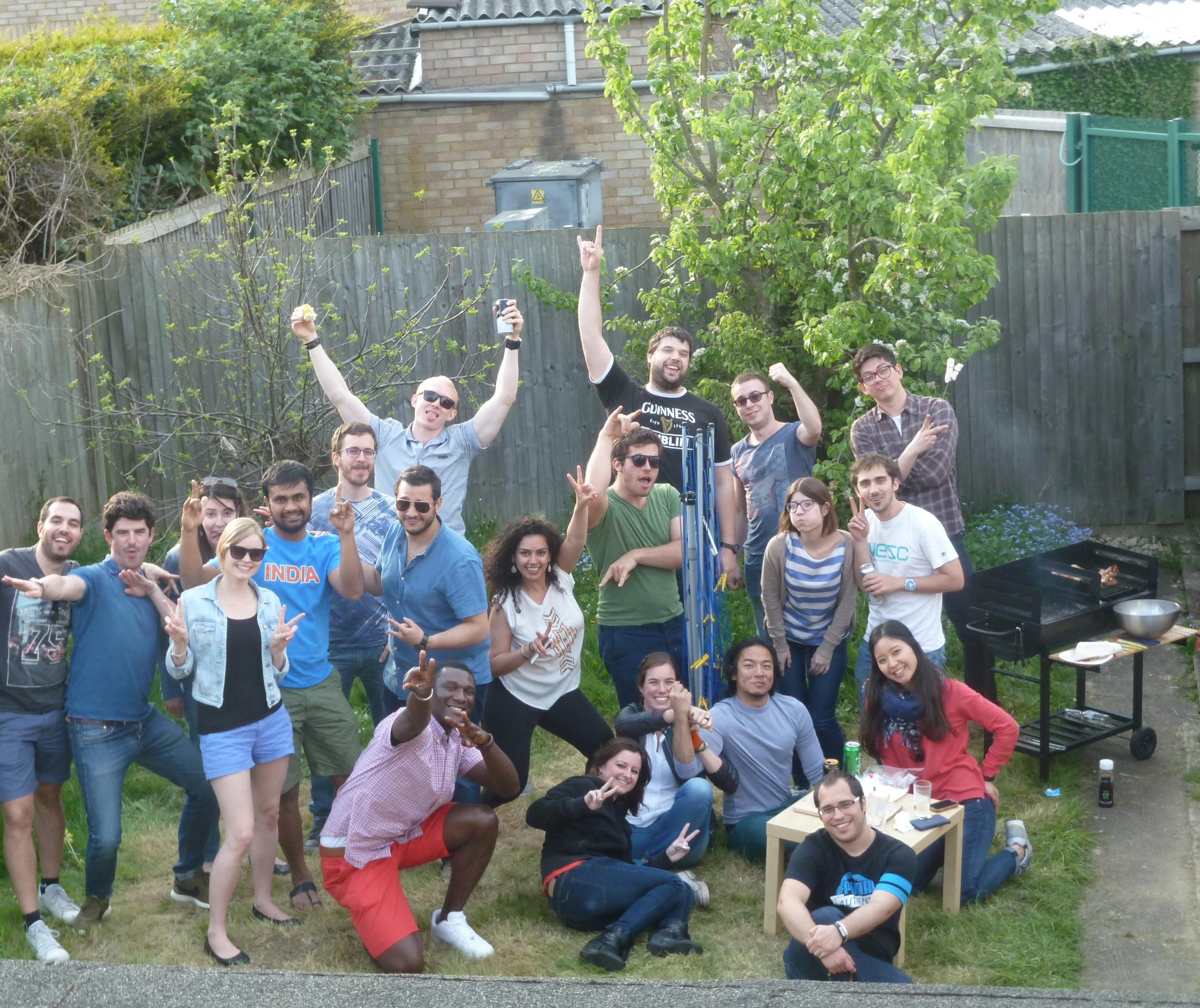 Cranfield University students socialising