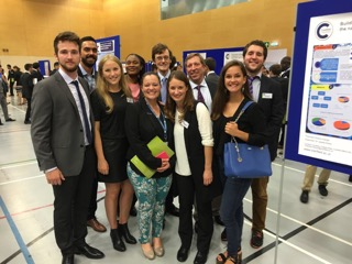 William Faas and his coursemates on the Environmental Management MSc at Cranfield University