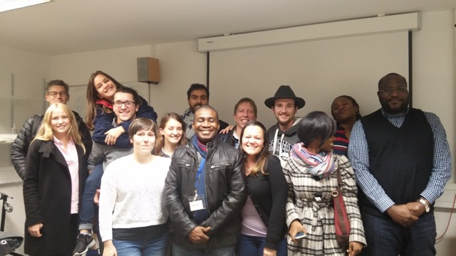 William Faas and his coursemates on the MSc Environmental Management programme at Cranfield University