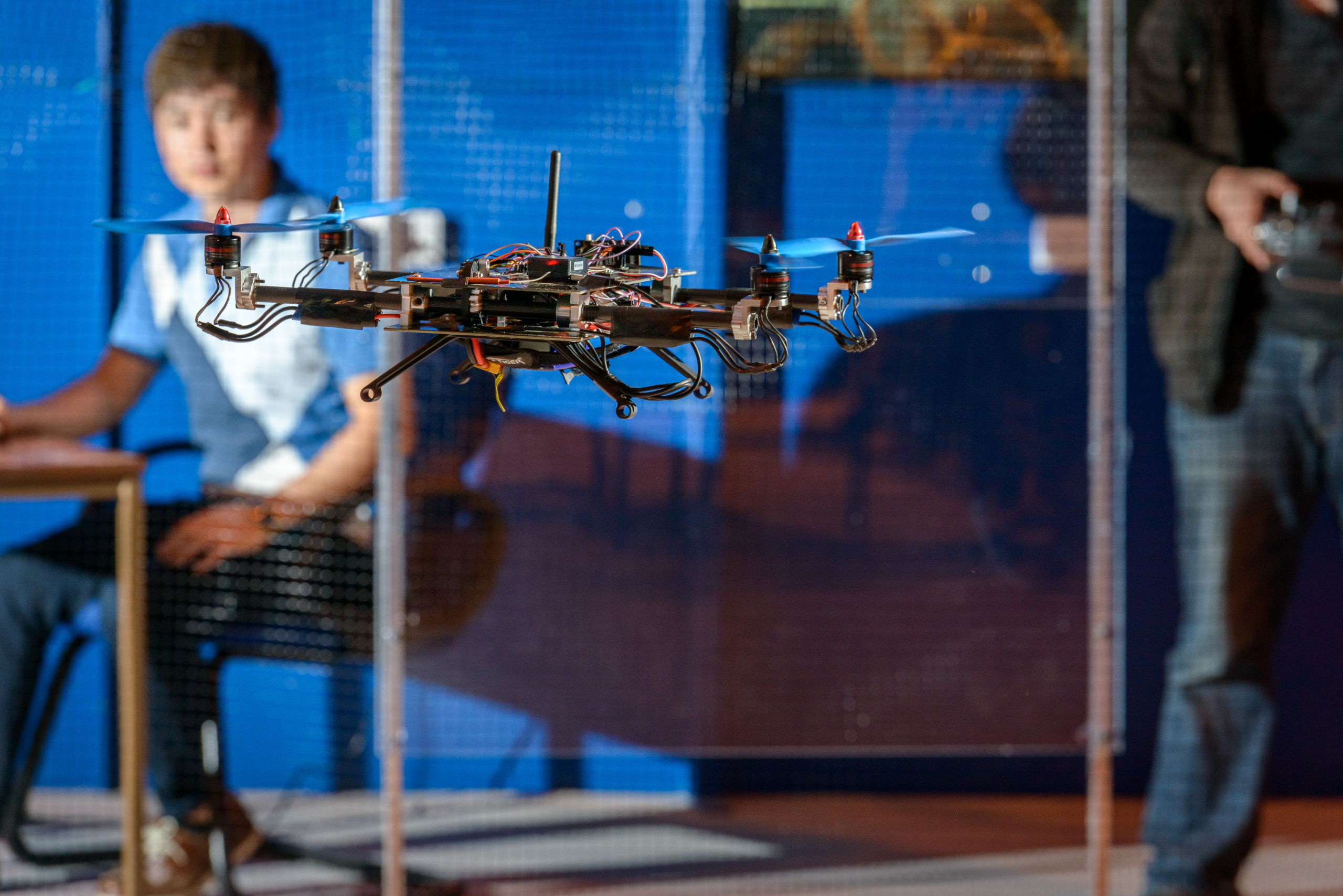 An unmanned aerial vehicle in the laboratory at Cranfield University