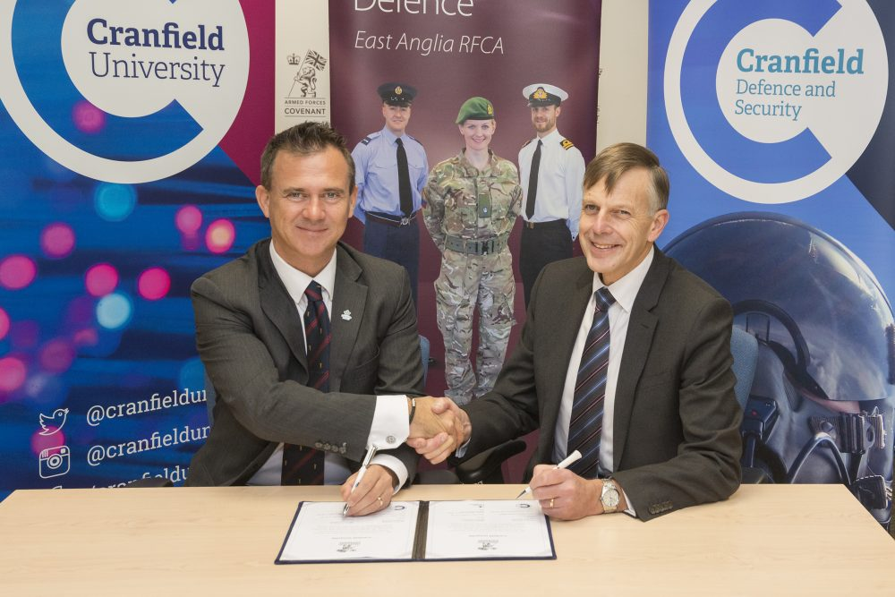 Cranfield University Armed Forces Covenant signing 2nd December