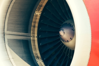 Photo of an aircraft engine
