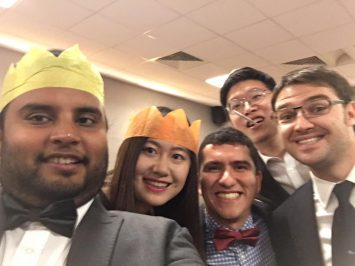 Cranfield MSc in Management students Christmas party