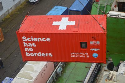 Science has no borders shipping container