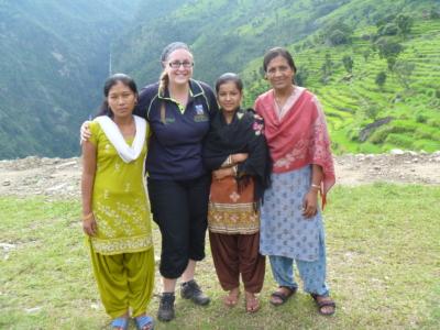 Dr Dani Barrington in Nepal