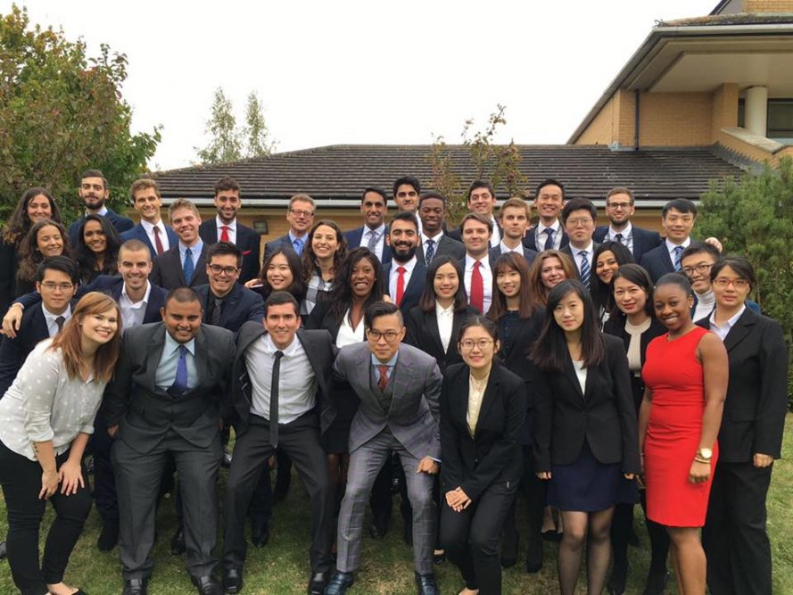 Master's in Management class photo 2016-17