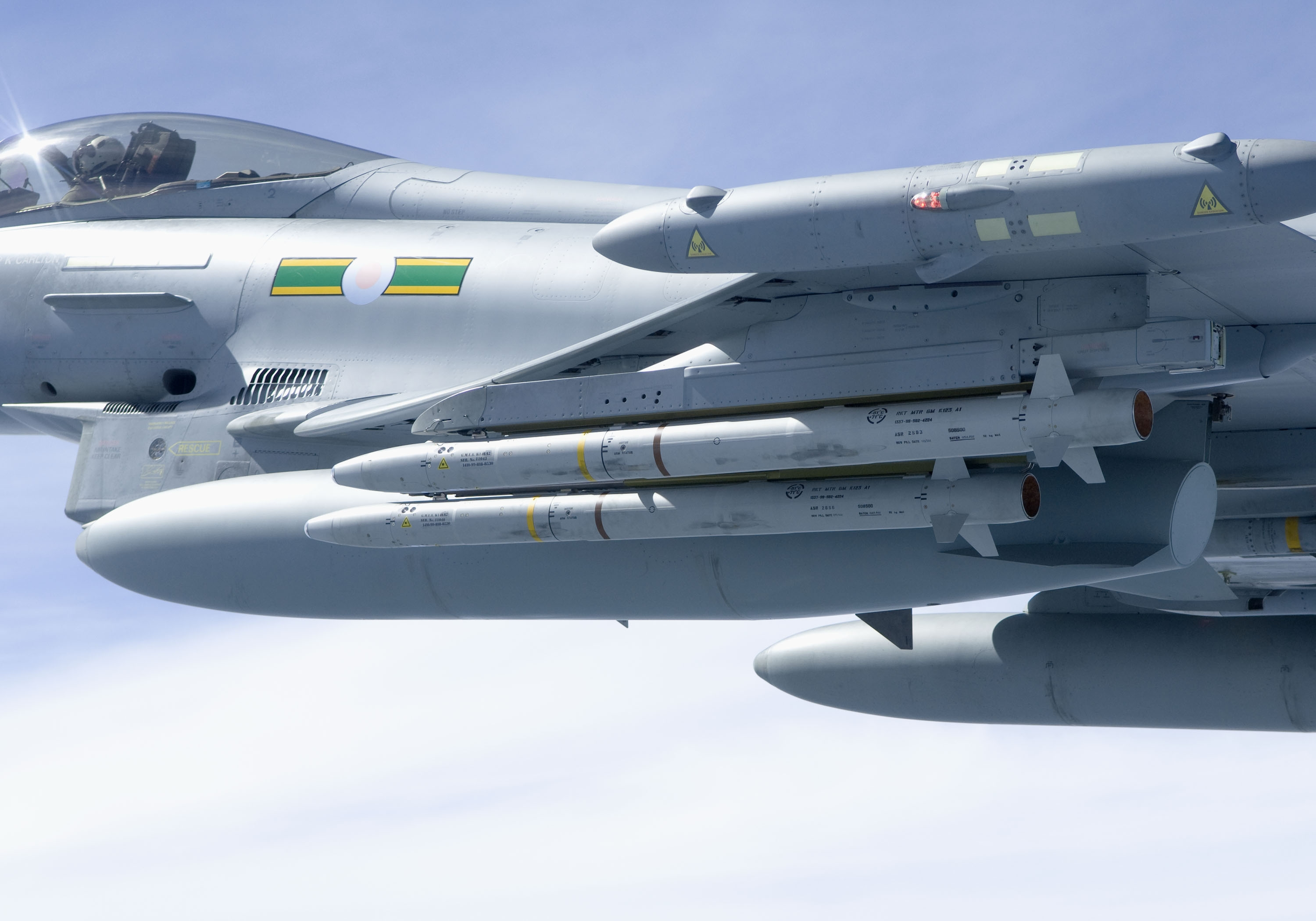 ASRAAM Missiles Fitted to RAF Typhoon Jet