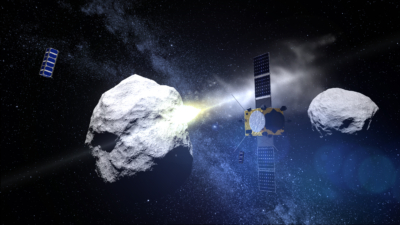 Cubesats watch asteroid impact