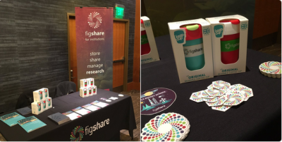 Photo of figshare table and swag
