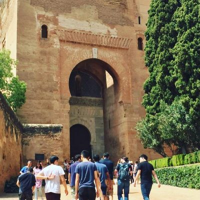 Cranfield School of Management Master's in Management students visiting Alhambra