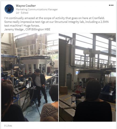 Structural Integrity Laboratory, Cranfield University
