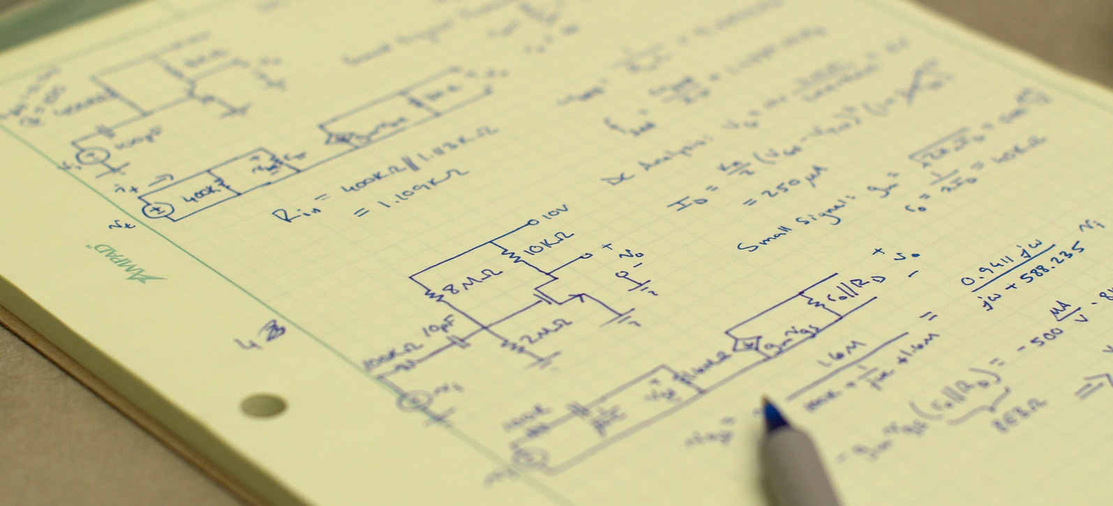 Photo of an engineering paper