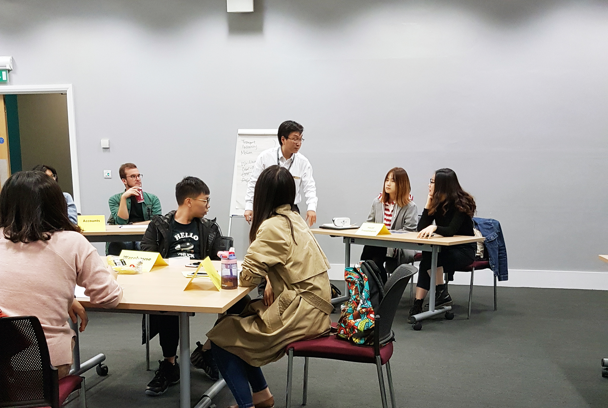 Just In Time Game, Logistics and Supply Chain MSc students at Cranfield School of Management