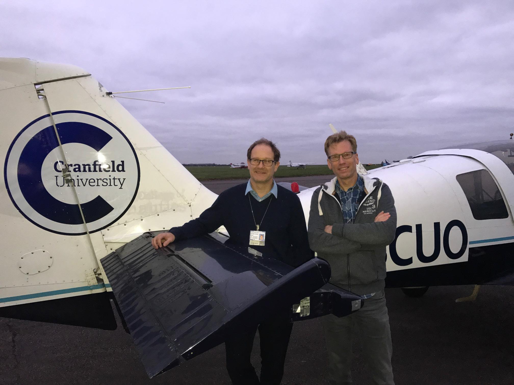 Professor Nick Lawson and Professor Eric Groen at Cranfield University