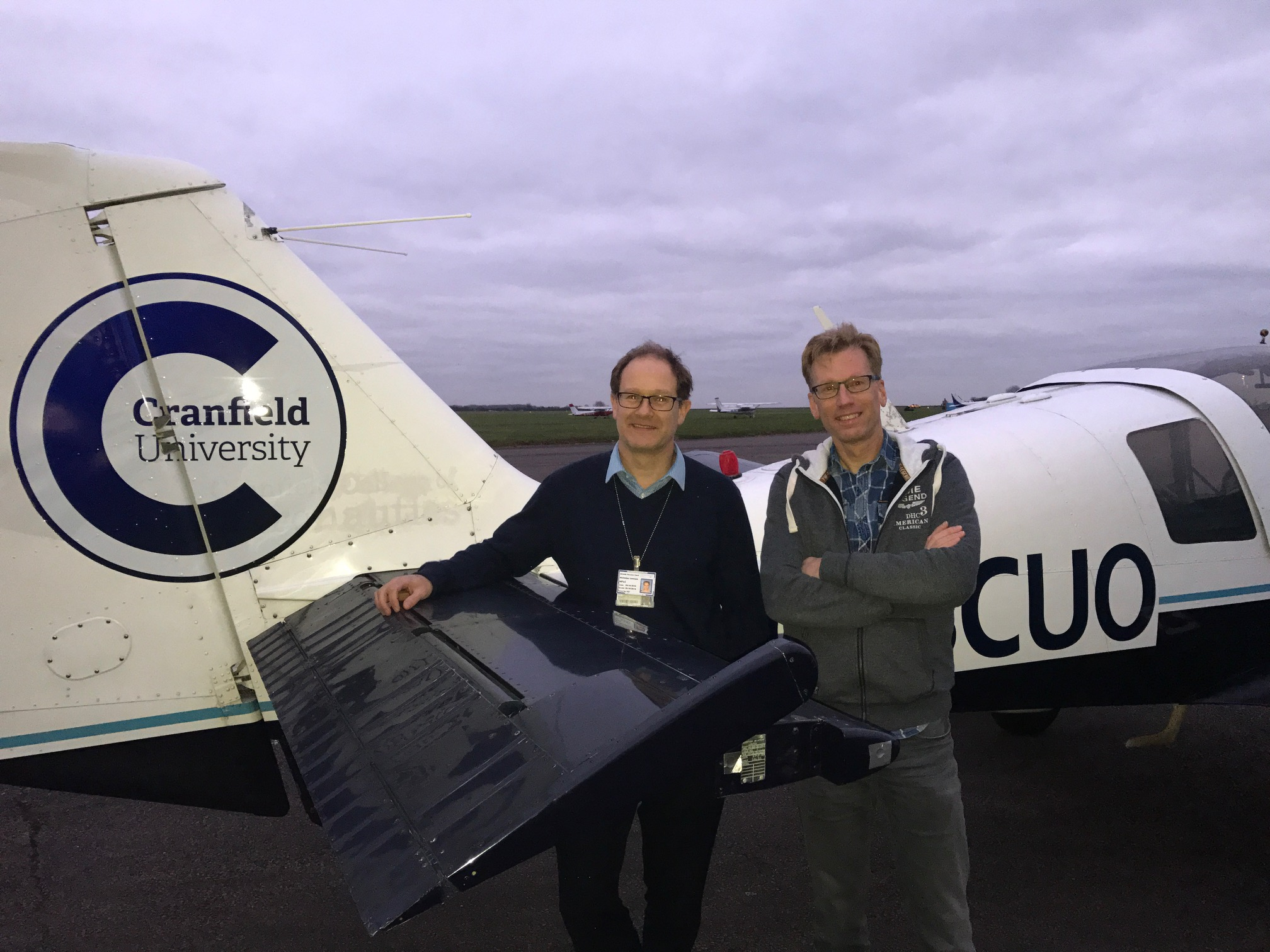 Professor Nick Lawson and Professor Eric Groen at Cranfield University