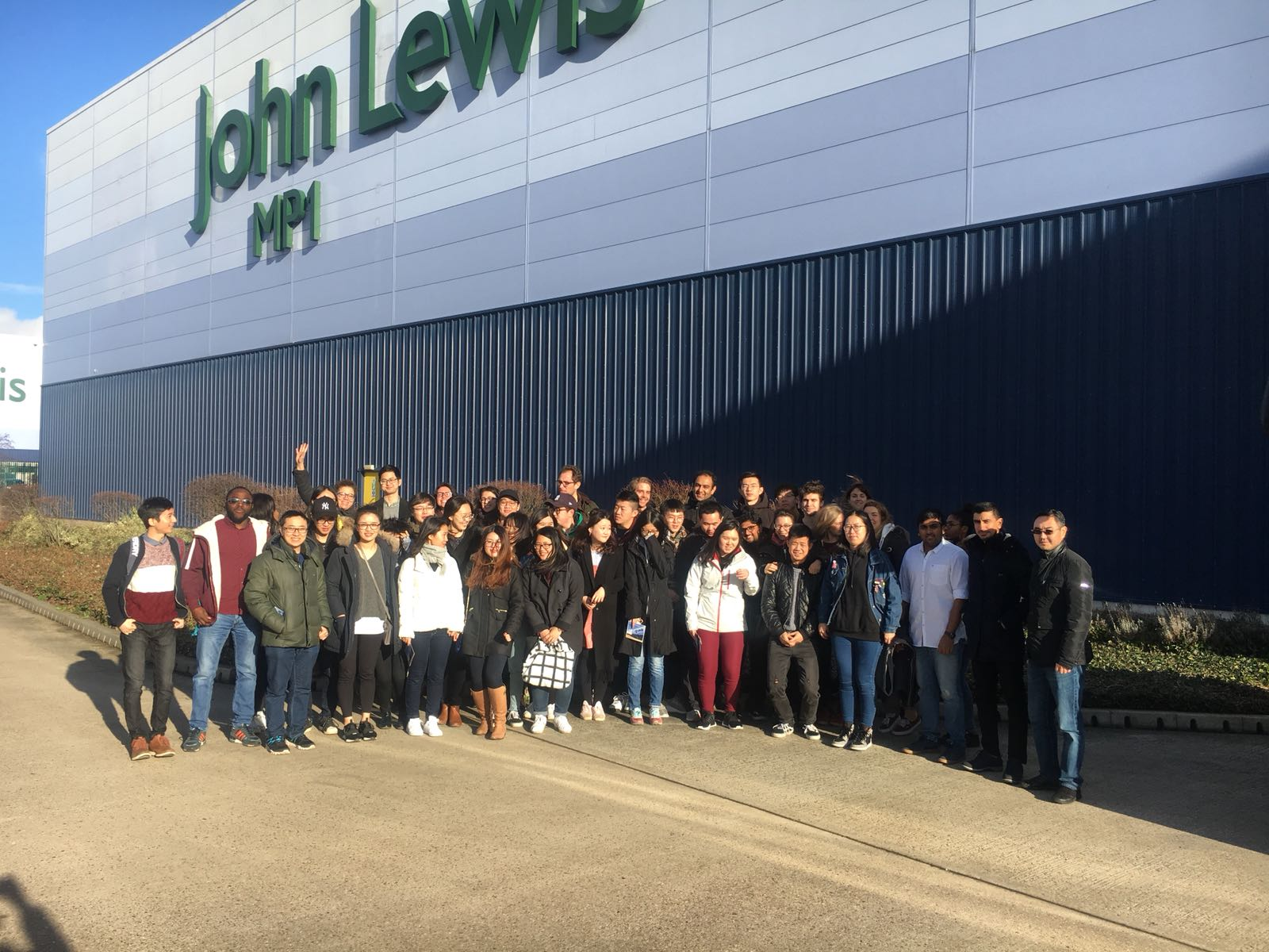 John Lewis warehouse visit group photo