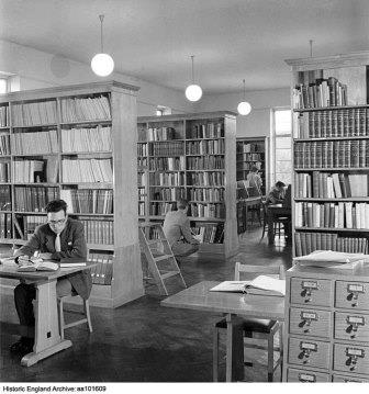 The original library, located in the Stafford Cripps building until 1993