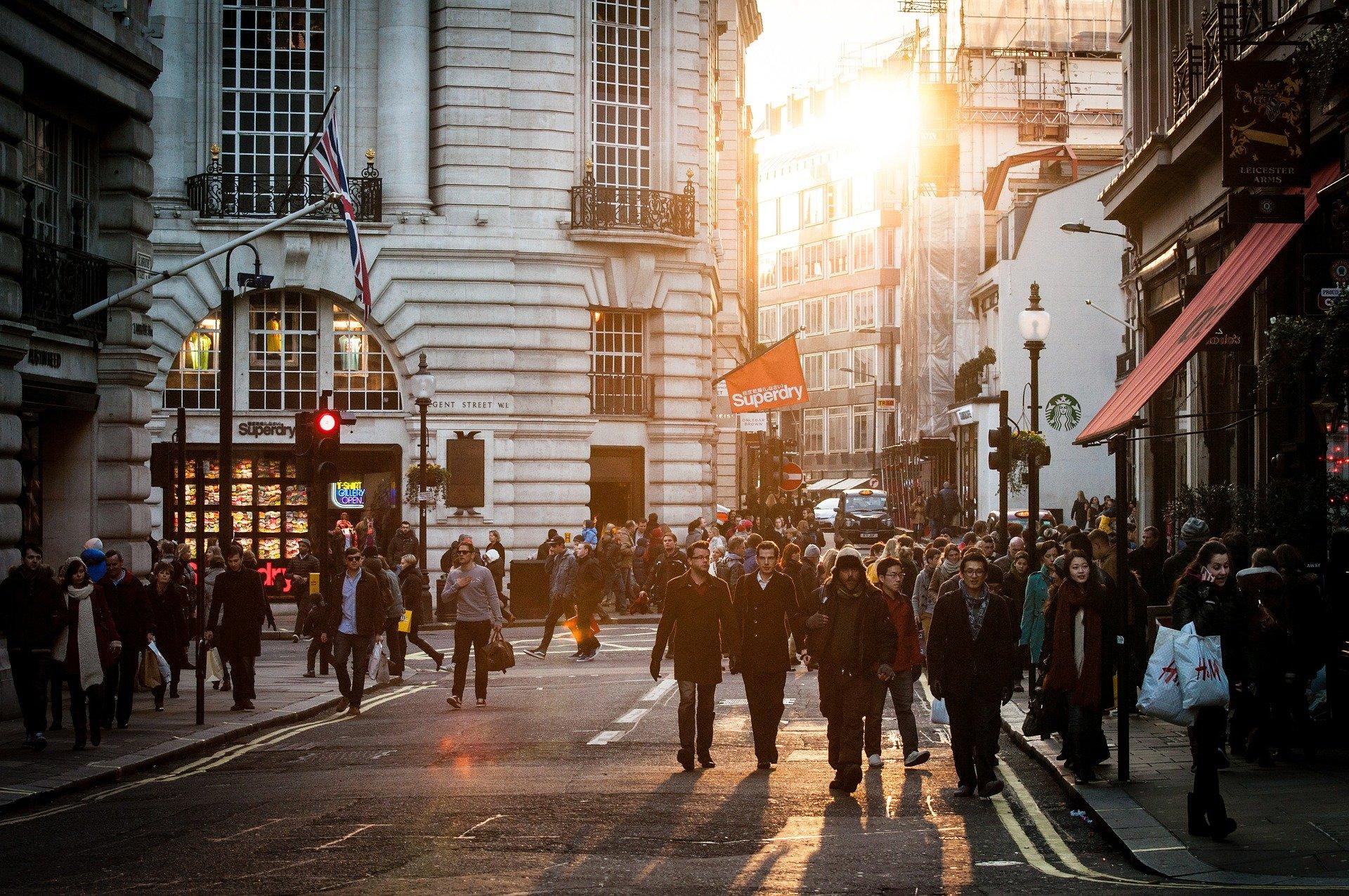 street scene in London