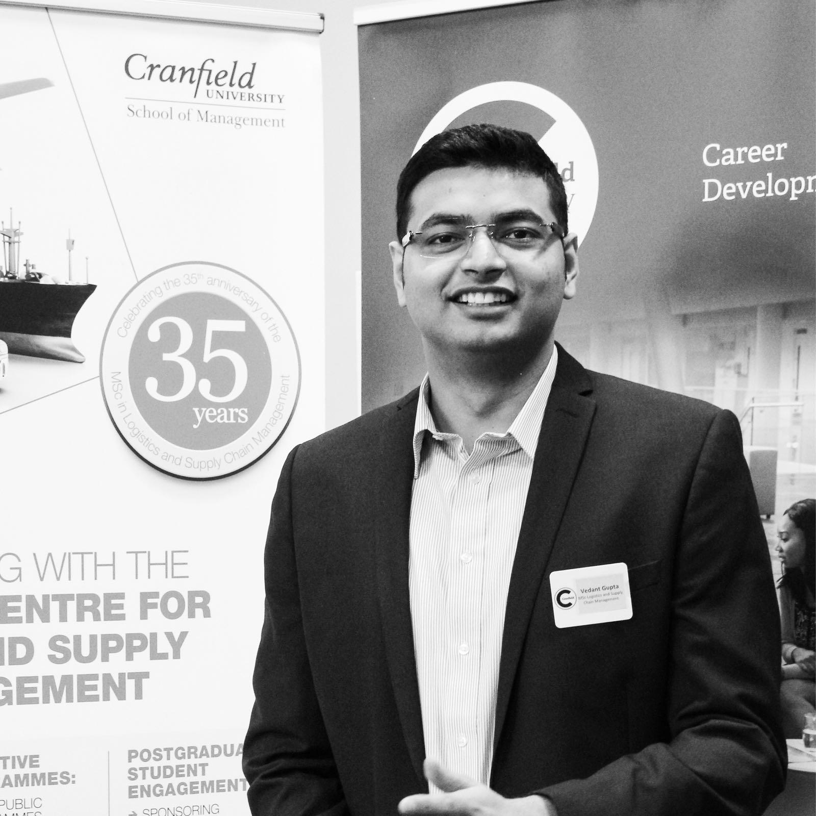 Vedant Gupta - Logistics MSc student