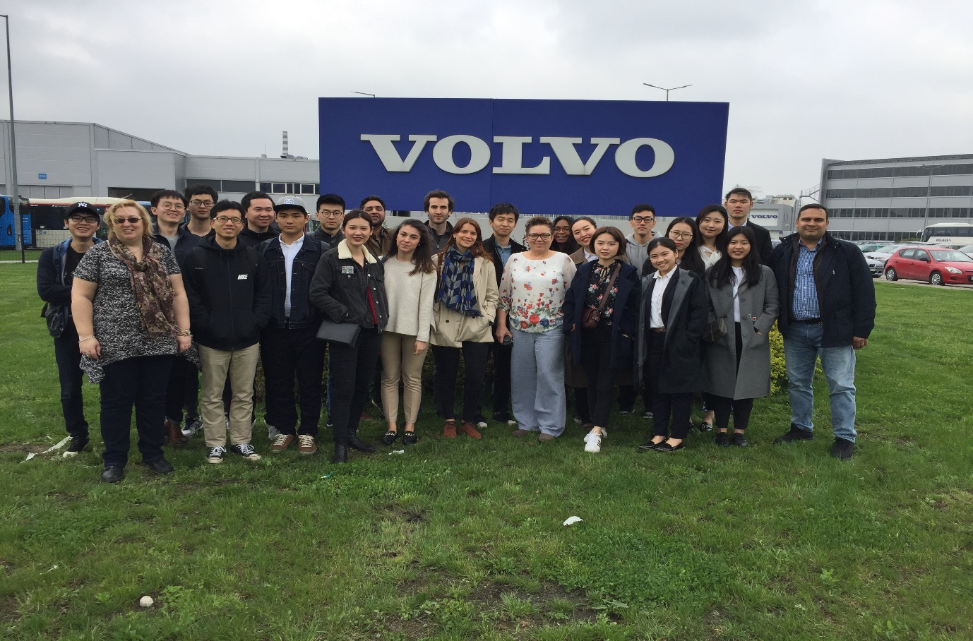 Logistics MSc students visit Volvo in Wroclaw