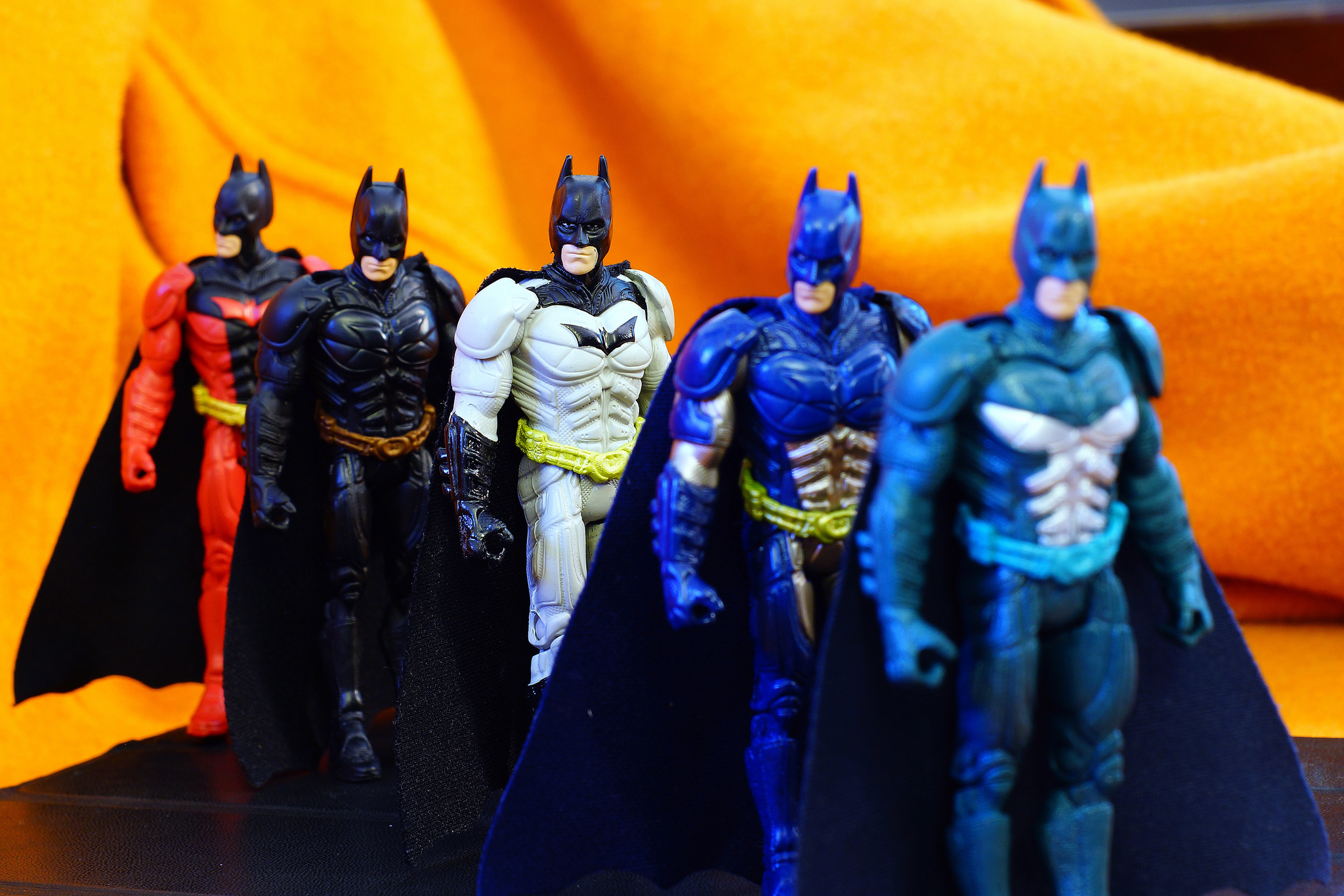 Photo of five Batman figures
