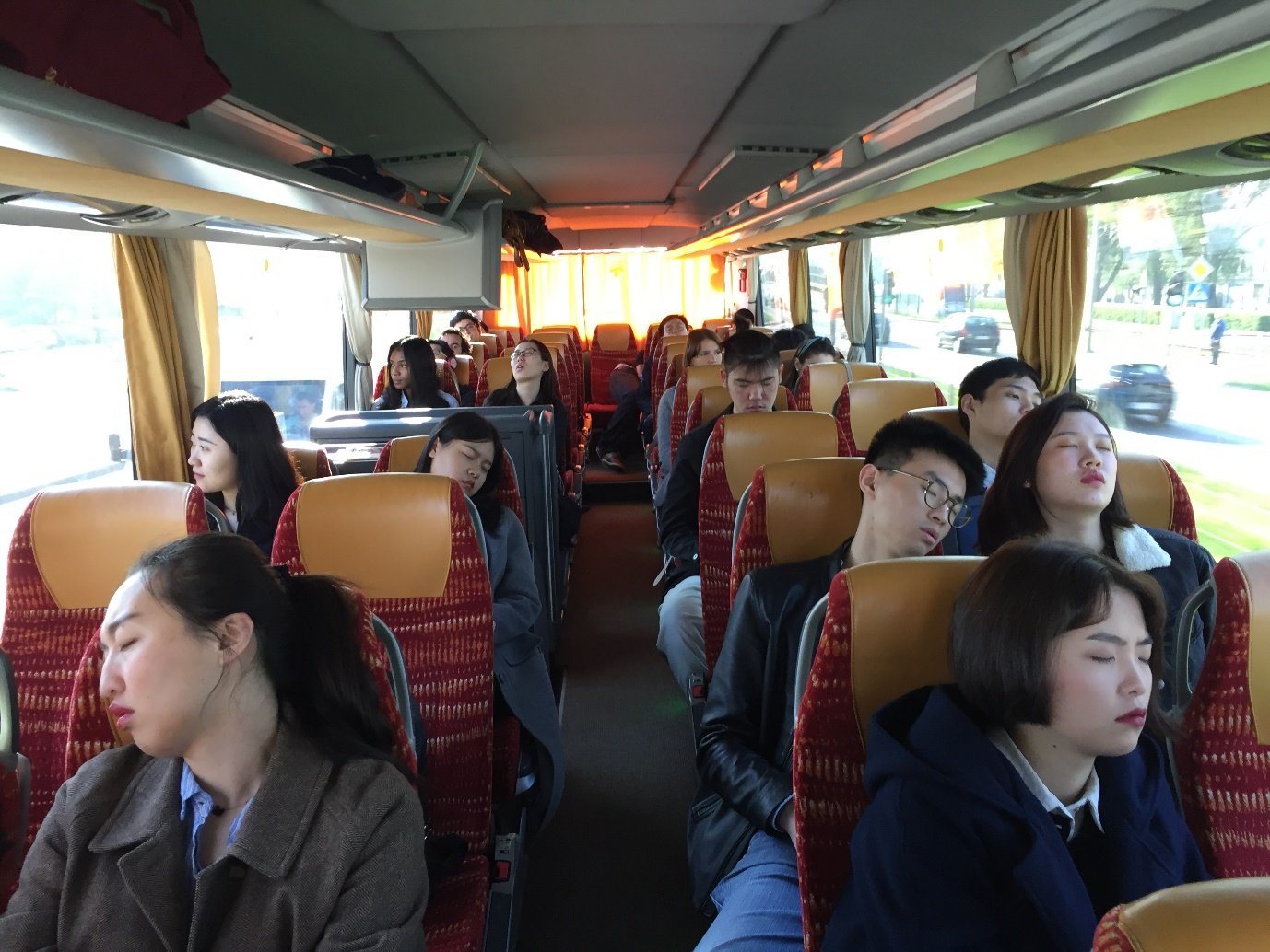 Logistics and Supply Chain Management students tired on the final day of their study tour to Wroclaw in Poland