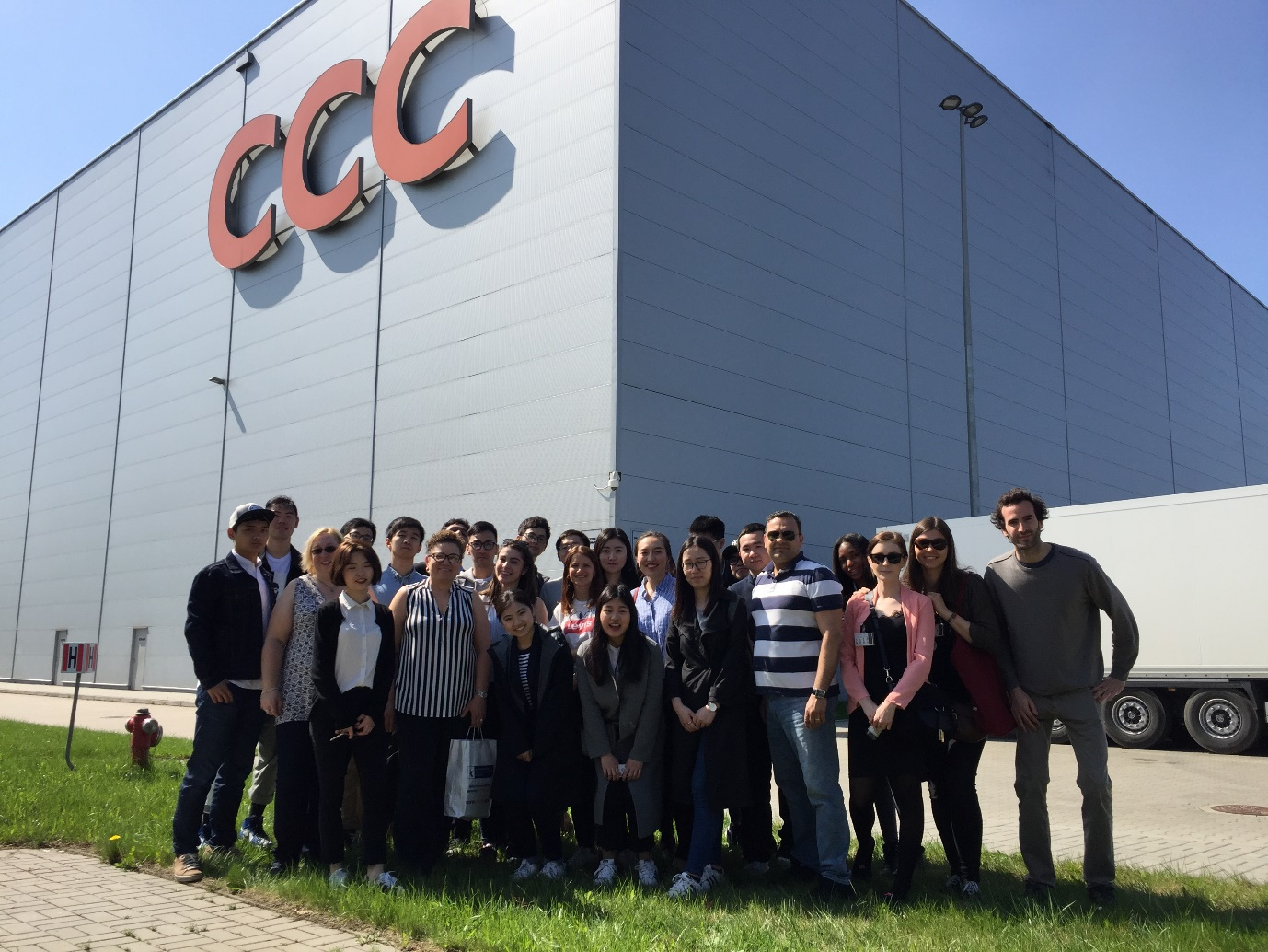 Logistics and Supply Chain Management students at CCC warehouse in Wroclaw, Poland