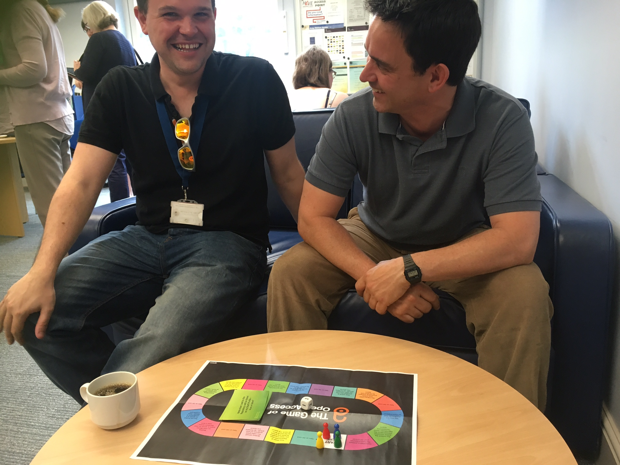 Researchers playing the Game of Open Access at our coffee morning