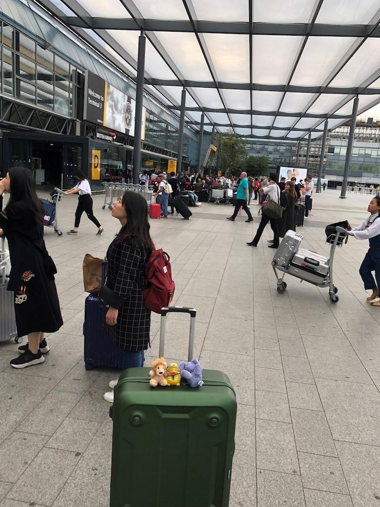 Arriving at Heathrow
