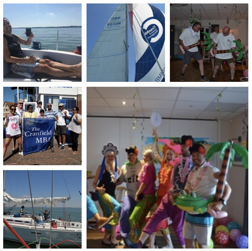 Collage of MBA Cranfield Regatta Activities