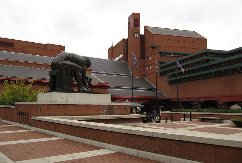 external view of british library