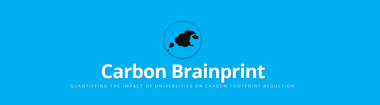 banner saying 'carbon brainprint'