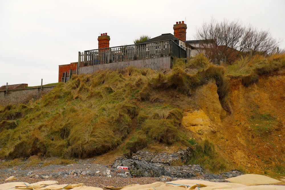 Image of coastal erosion at Thorpeness