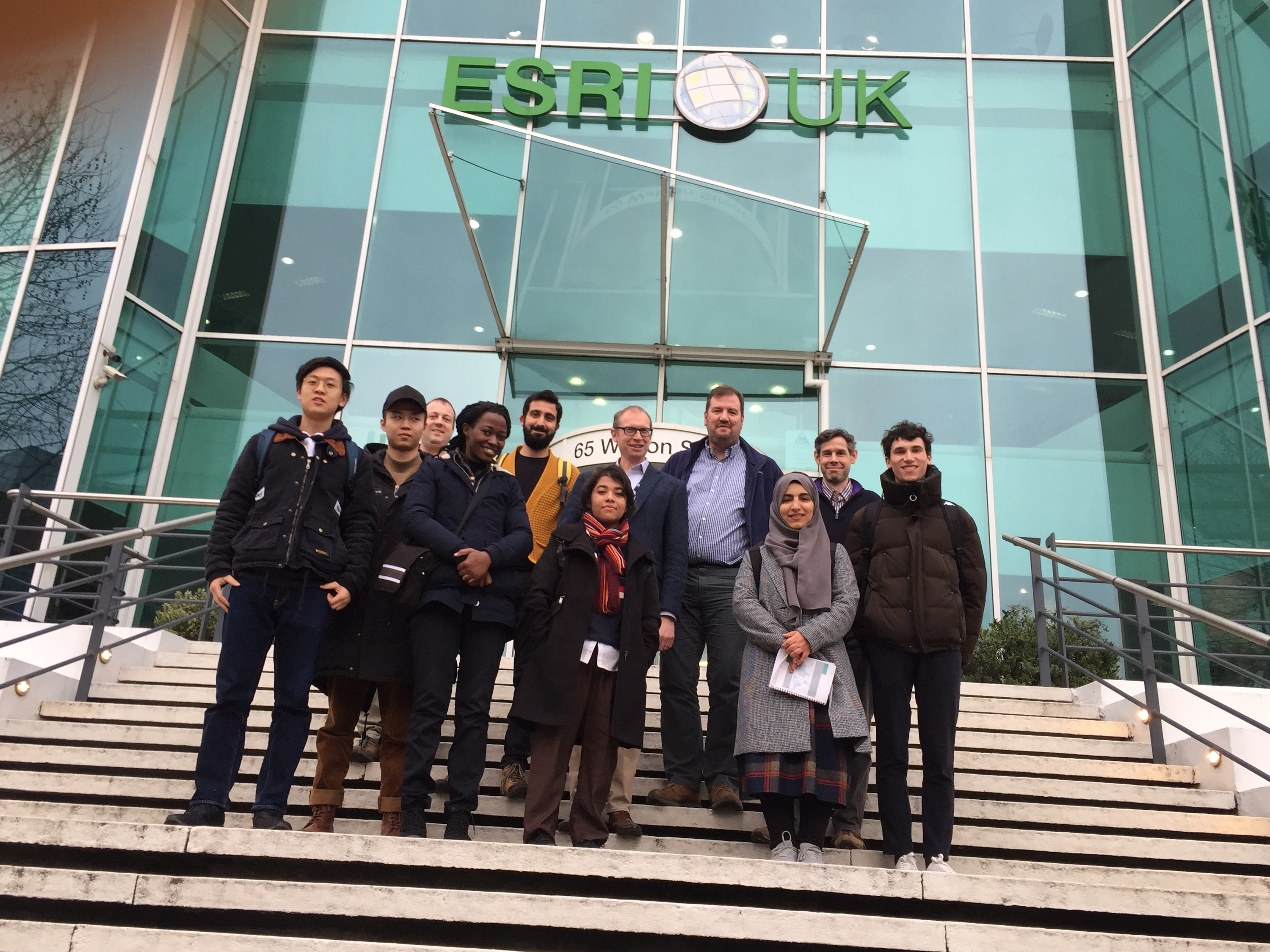 MSc GIM students visiting Esri(UK) Ltd.