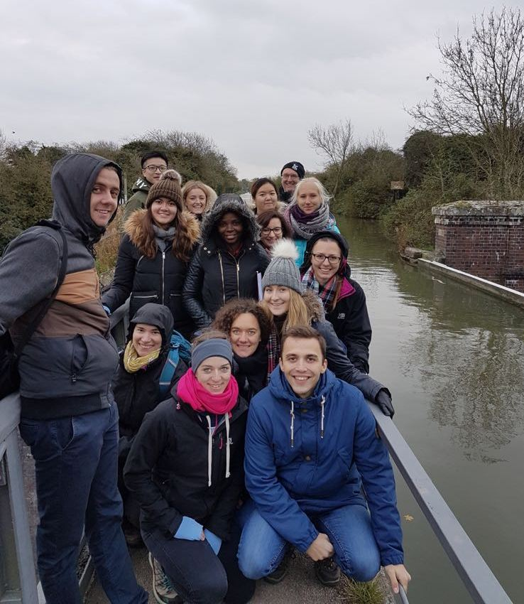 The whole course on our first Environmental Water Management MSc field trip