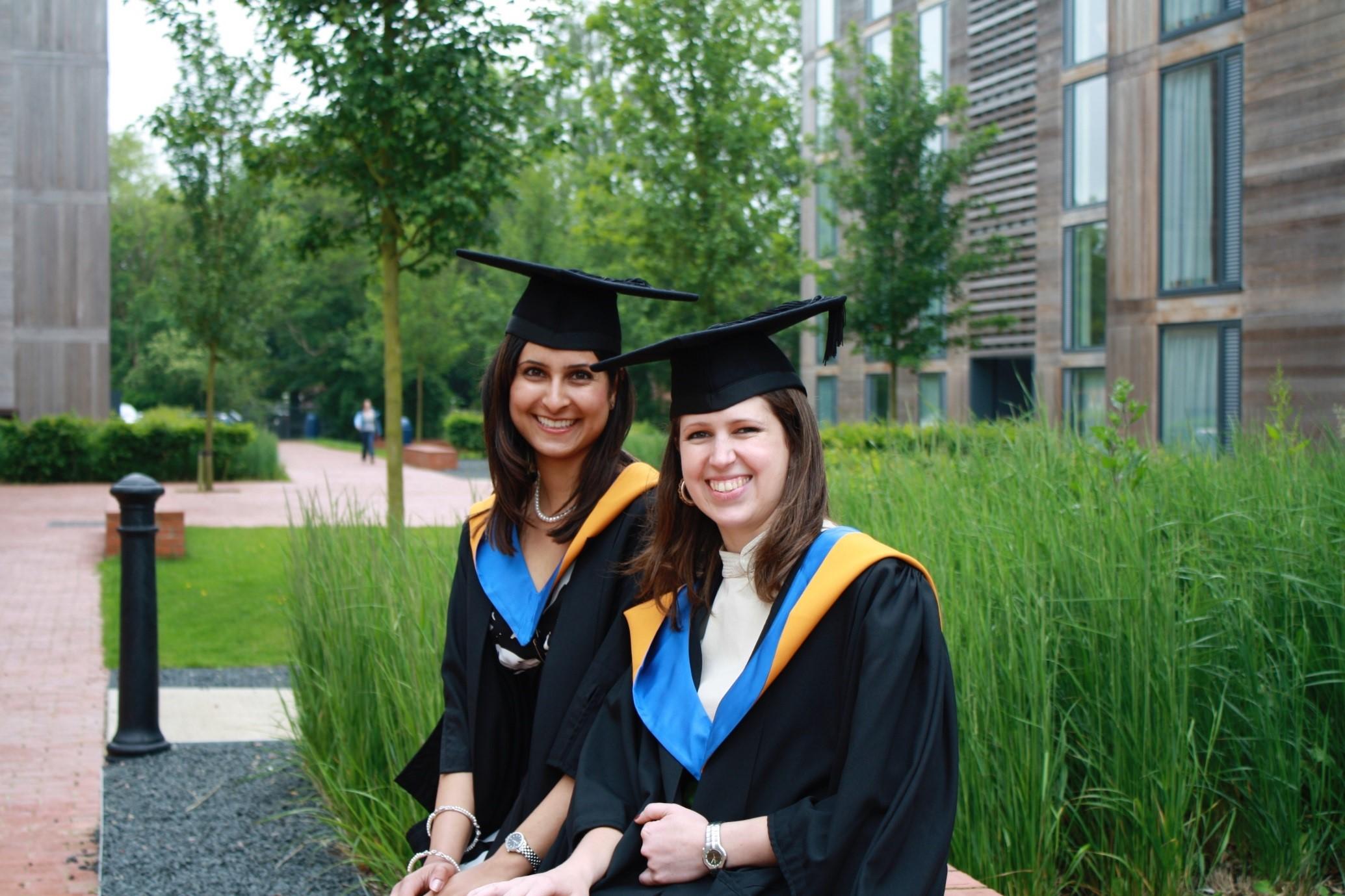 Figure 1 MSc Graduation Day with my best friend