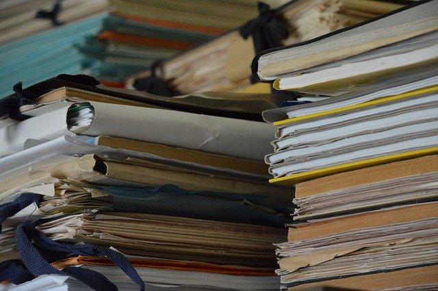 Pile of paper files