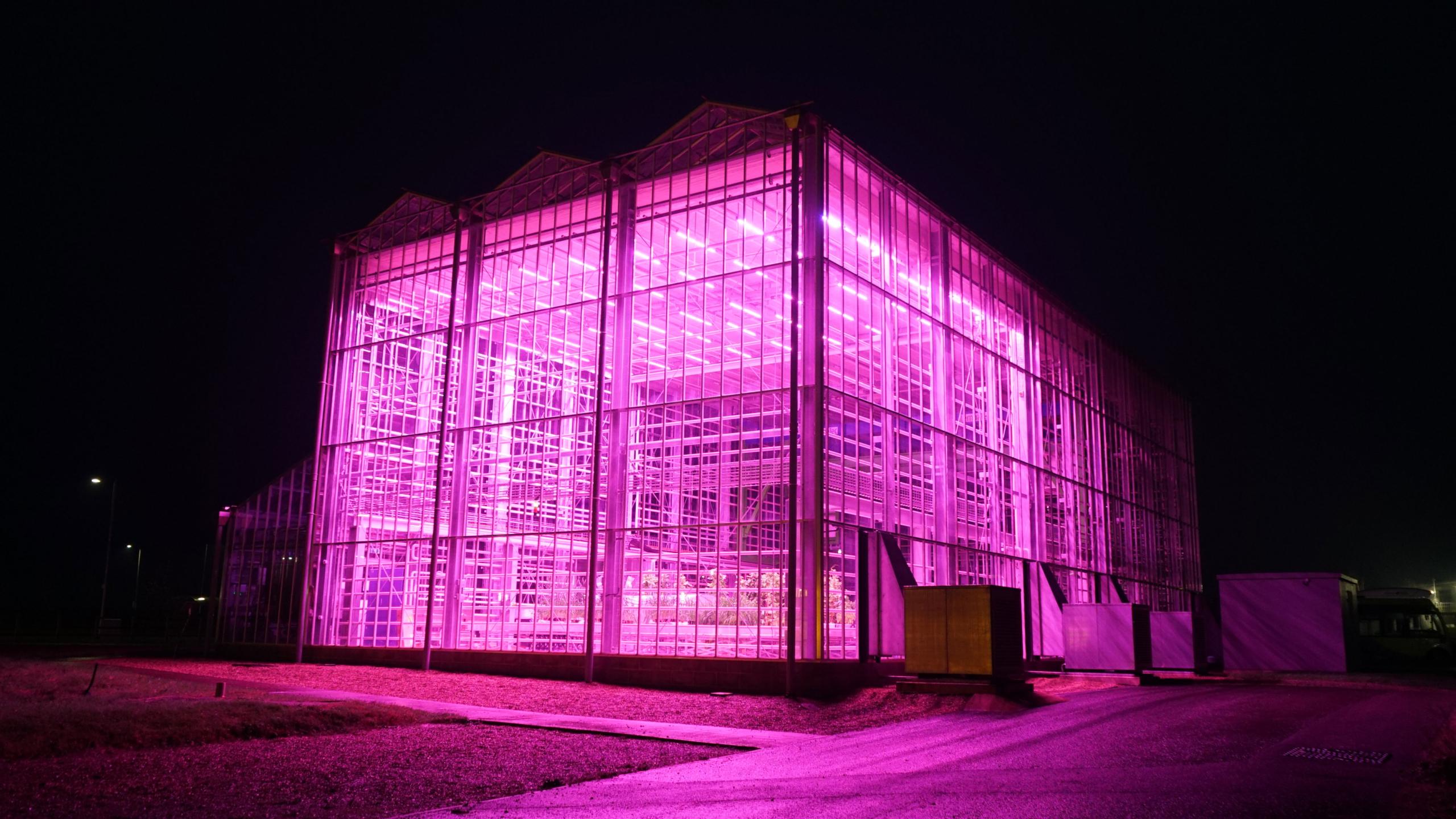Experimental glasshouse facility at Cranfield University